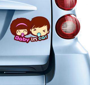 Αυτοκολλητο Baby in car
