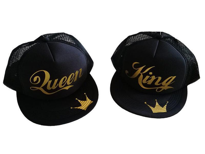 Καπέλο Queen and King Gold Edition (σετ 2 τεμ.)