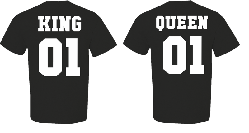 T-shirt King and Queen (σετ 2 τεμ.) Κωδ.:1611