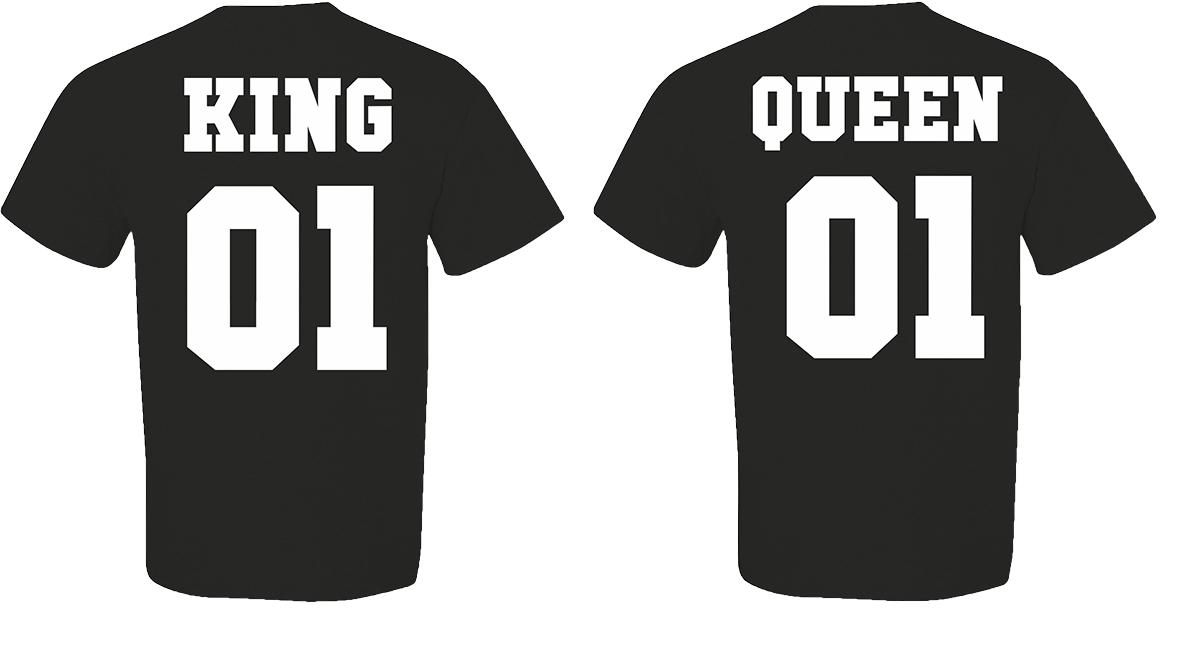 T-shirt King and Queen (σετ 2 τεμ.) Κωδ. 1611  edc9e290acf