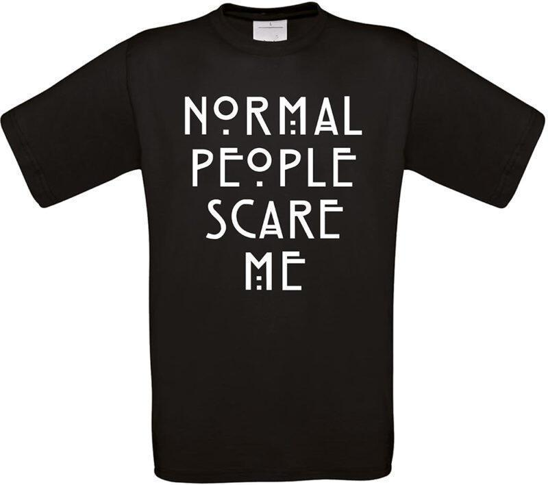 T-shirt Normal people scare me (Μάυρο)