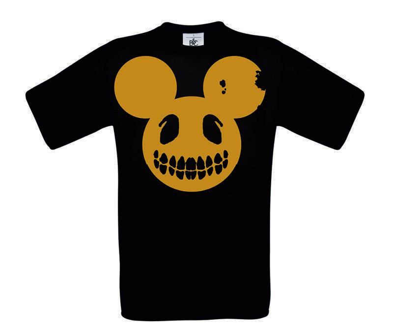 T-shirt Evil Mickey Gold