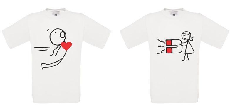 T-shirt Love (σετ 2 τεμ.)