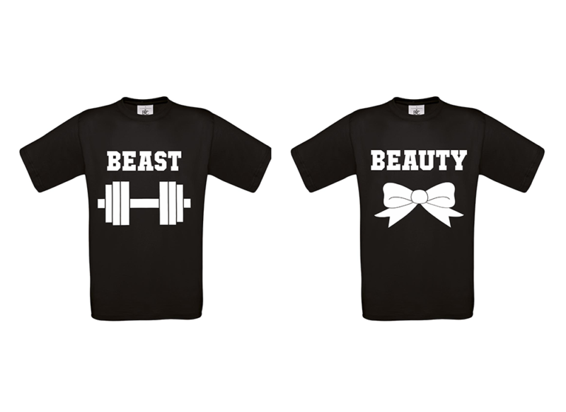 T-shirt Beauty and beast (σετ 2τεμ)