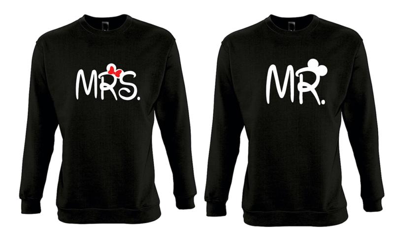 Φουτερ Mrs and Mr (σετ 2 τεμ.)