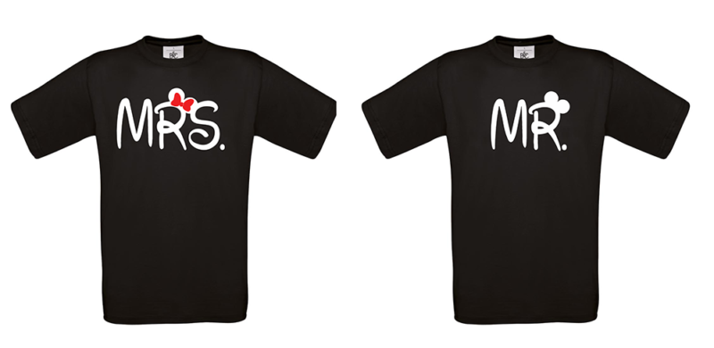 T-shirt Mrs and Mr (σετ 2 τεμ.)