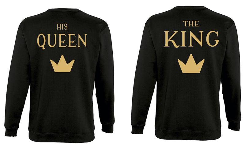Φουτερ The king and His queen με κορώνες gold (σετ 2 τεμ.)