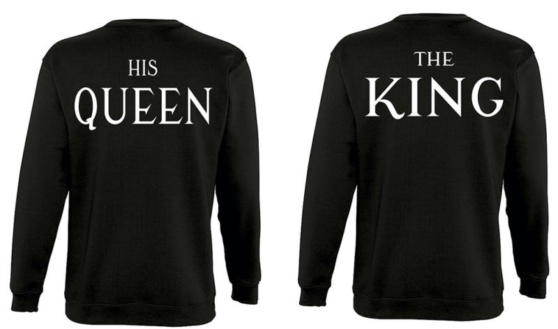 Φουτερ The king  and His queen (σετ 2 τεμ.)