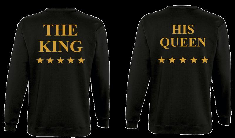Φουτερ The King and His Queen Star Gold (σετ 2 τεμ.)