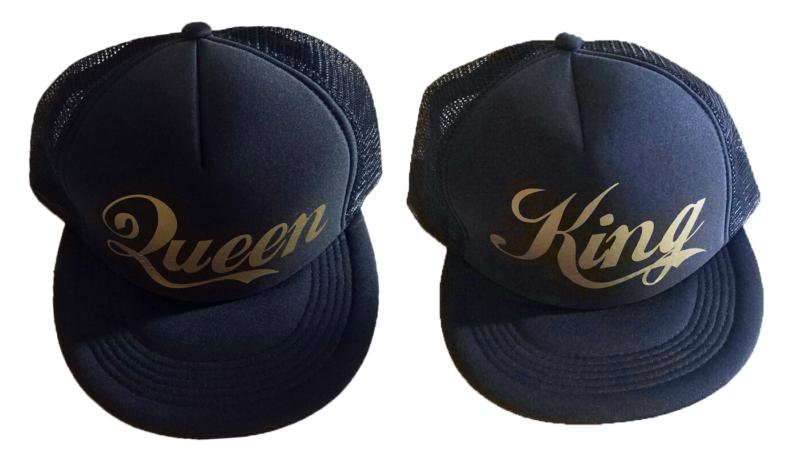 Καπέλα King and Queen gold edition (σετ 2 τεμ.)