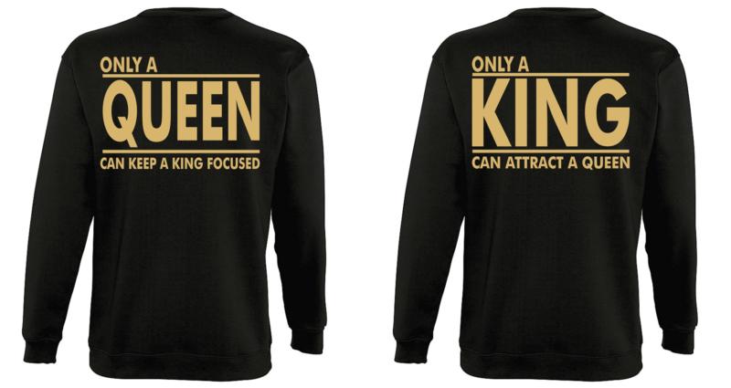 Φουτερ Only a King and a Queen gold (σετ 2 τεμ.)