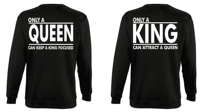 Φουτερ Only a King and a Queen (σετ 2 τεμ.)