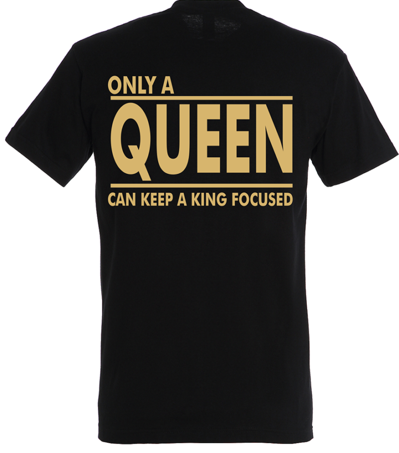 T-shirt Only a Queen Gold