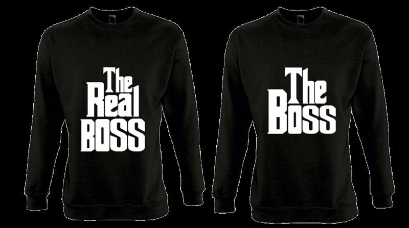 Φουτερ The boss and the Real boss (σετ 2 τεμ.)  Κωδ.:5422